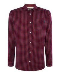 Jack & Jones - Red Jamey Large Gingham Shirt for Men - Lyst