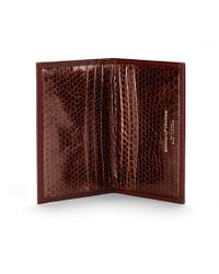 Aspinal | Brown Double Fold Credit Card Case | Lyst
