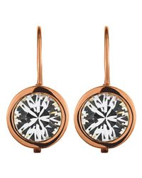 Dyrberg/Kern | Pink Louise Rose Gold Crystal Earrings | Lyst