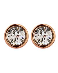 Dyrberg/Kern Pink Thelma Rose Gold Crystal Earrings