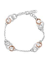 Links of London - Metallic Aurora Sterling Silver And 18kt Rose Gold Vermeil Multi Link Bracelet - Lyst
