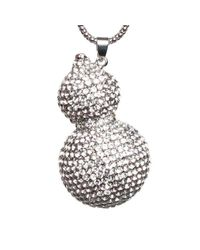 Mikey | Metallic Twin Crystal Pendant | Lyst