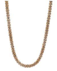 Anne Klein | Metallic Tubular Pave Collar Necklace | Lyst