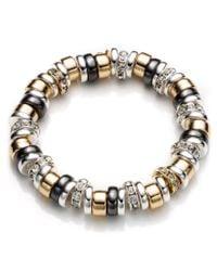 Nine West - Metallic Roundel Stretch Bracelet - Lyst