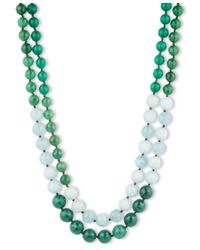 Lonna & Lilly | Blue Two Row Agate And Amazonite Bead Necklace | Lyst