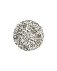 Mikey | Metallic Triple Oval Linked Crystal Bracelet | Lyst