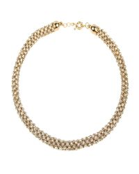 Mikey | Metallic Rope Crystal Necklace | Lyst