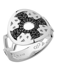 Links of London - Metallic Timeless Sterling Silver & Black Sapphire Ring - Lyst