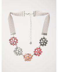 White Stuff - Pink Deco Flower Necklace - Lyst