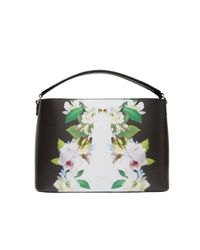 Ted Baker | Black Aniyaa Forget Me Not Medium Tote Bag | Lyst