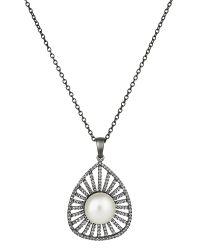 Jersey Pearl | Metallic Freshwater Pearl Pendant | Lyst