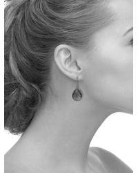 Latelita London - Petite Drop Earring Gold Pink - Lyst