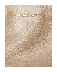 Michael Kors - Metallic Savannah Gold Large Tote Bag - Lyst