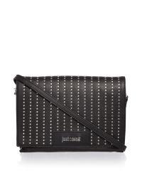 Just Cavalli | Washed Calf Stud Black Crossbody Bag | Lyst