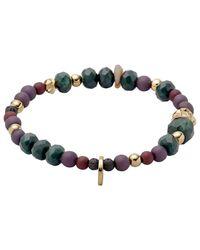 Pilgrim | Green And Gold Colour Bracelet | Lyst
