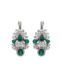 Mikey | Multicolor Fillagary Crystal Oval Stone Earring | Lyst