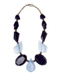 Marella | Blue Calcut Chunky Stone Necklace | Lyst