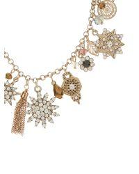 Accessorize - Metallic Helena Sparkle Charm Necklace - Lyst