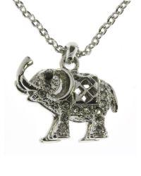 Indulgence Jewellery | Metallic Indulgence Elephant Pendant | Lyst
