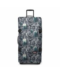 Eastpak | Green Tranverz Large Escaping Pines Wheeled Suitcase for Men | Lyst