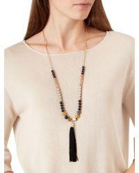 Hobbs | Metallic Luella Tassel Necklace | Lyst