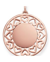 Thomas Sabo - Pink Rose Gold Cut-out Love Bridge Heart Pendant - Lyst