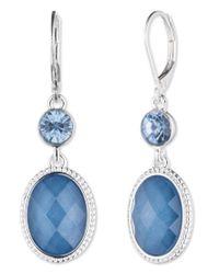 Nine West | Blue Double Drop Earrings | Lyst