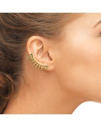 Latelita London - Metallic Spikey Ear Cuff Left Ear Gold - Lyst