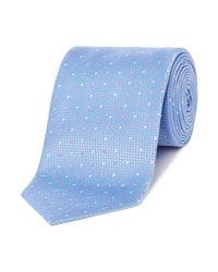 HUGO - Blue Two Colour Spot Tie for Men - Lyst