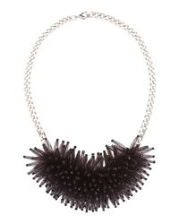 Marella | Max Oversized Beaded Neckalce Black | Lyst