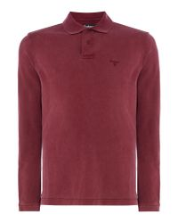 Barbour - Red Men's Washed Polo for Men - Lyst