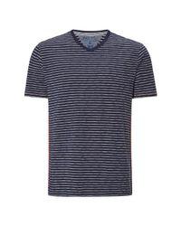White Stuff - Blue Men's Voyage V Neck Stripe Tee for Men - Lyst