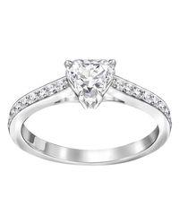 Swarovski | Metallic Attract Heart Ring | Lyst