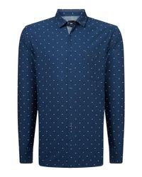 BOSS - Blue Men's Cattiude Geo Shirt for Men - Lyst