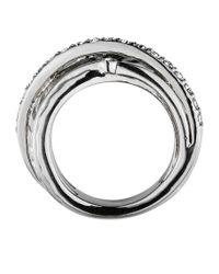 Dyrberg/Kern | Metallic Wendolyn Shiny Silver Crysta Ring | Lyst