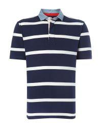 Howick | Blue La Fine Stripe Short Sleeve Rugby for Men | Lyst