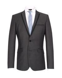 Limehaus | Black Micro Design Single Breasted Suit Jacket for Men | Lyst
