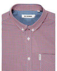 Ben Sherman - Red Mini Mod Check Long Sleeve Shirt for Men - Lyst