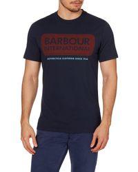 Barbour | Blue International Logo T-shirt for Men | Lyst