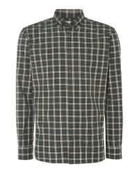 Tm Lewin | Green Check Slim Fit Long Sleeve Button Down Shirt for Men | Lyst