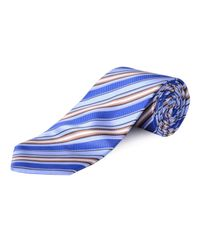 Double Two | Blue Extra Long Stripe Tie for Men | Lyst