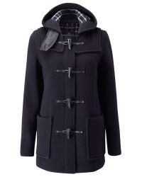Gloverall | Blue Mid Length Slim Duffle Coat | Lyst