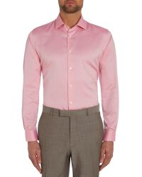 Richard James | Pink Plain Tailored Fit Long Sleeve Shirt for Men | Lyst