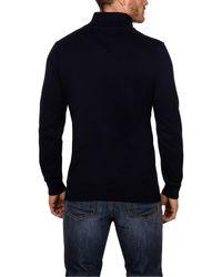 Raging Bull - Blue Big & Tall Plain Half Zip Neck Jumper for Men - Lyst