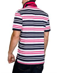 Raging Bull - Pink Varied Stripe Regular Fit Polo Shirt for Men - Lyst