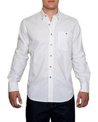 Raging Bull | White Plain Long Sleeve Button Down Shirt for Men | Lyst