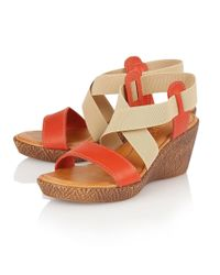 Lotus - Orange Emiliano Wedge Sandals - Lyst