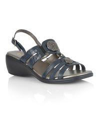 Lotus | Blue Berty Open Toe Sandals | Lyst