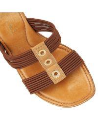 Lotus - Brown Verona Wedge Sandals - Lyst
