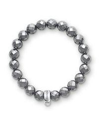 Thomas Sabo   Black Charm Club Hematite Stone Bracelet   Lyst